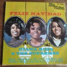 Discos de vinilo: DIANA ROSS & THE SUPREMES - FELIZ NAVIDAD **** SUPER RARO EP ESPAÑOL 1968. Lote 257342085