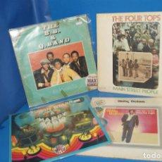 Discos de vinilo: LOTE 4 VINILOS DISCOS LPS-EPS THE FOUR TOPS-BILLY OCEAN-EDWIN STARR-B.B&Q.BAND. Lote 257360240
