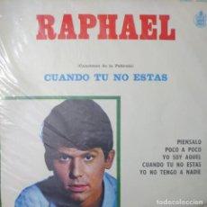 Discos de vinilo: RAPHAEL LP SELLO FUENTES-HISPAVOX EDITADO EN COLOMBIA DE LA PELÍCULA CUANDO TU NO ESTÁS.... Lote 257411300