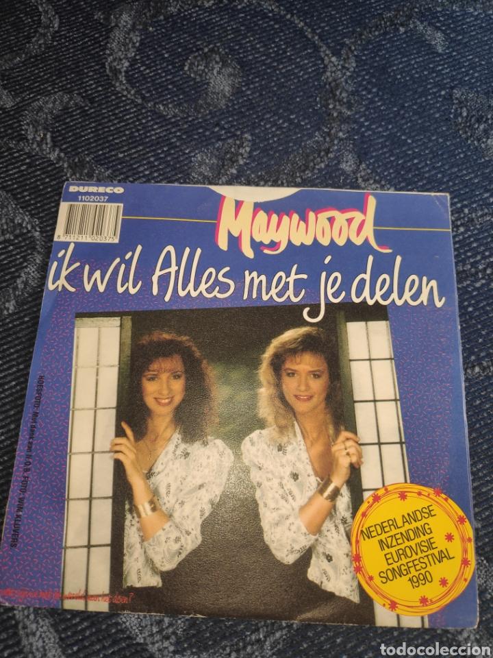 Discos de vinilo: Single vinilo Eurovision 90 - Maywood - It wil Alles met je delen - Foto 2 - 257411735