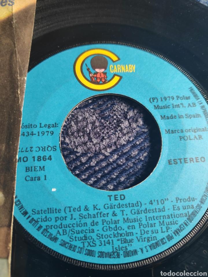Discos de vinilo: Single vinilo Eurovision 79 España - Ted - Satellite - Versión en inglés - Foto 6 - 257413280