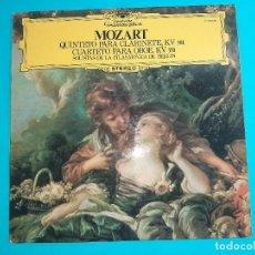 Discos de vinilo: LP - MOZART- QUINTETO CLARINETE CUARTETO OBOE- FILARMONICA BERLIN -DEUTSCHE GRAMMOPHON. Lote 257414305