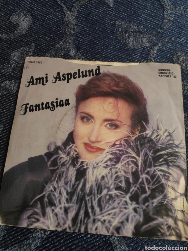 Discos de vinilo: Single vinilo Eurovision 83 - Ami Aspelund - Fantasy Dream + Fantasiaa - Foto 3 - 257415495