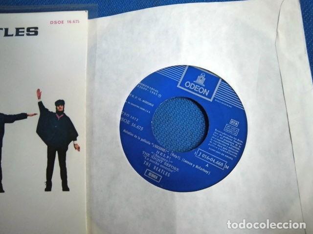Discos de vinilo: BEATLES SINGLE EP AZUL OSCURO LABEL CAMBIO REFERENCIA 1J EMI ODEON ESPAÑA ESTADO MINT - Foto 2 - 257415880
