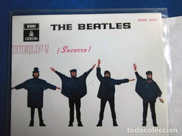 Discos de vinilo: BEATLES SINGLE EP AZUL OSCURO LABEL CAMBIO REFERENCIA 1J EMI ODEON ESPAÑA ESTADO MINT - Foto 3 - 257415880