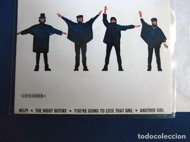 Discos de vinilo: BEATLES SINGLE EP AZUL OSCURO LABEL CAMBIO REFERENCIA 1J EMI ODEON ESPAÑA ESTADO MINT - Foto 4 - 257415880