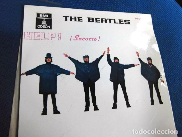 Discos de vinilo: BEATLES SINGLE EP AZUL OSCURO LABEL CAMBIO REFERENCIA 1J EMI ODEON ESPAÑA ESTADO MINT - Foto 5 - 257415880