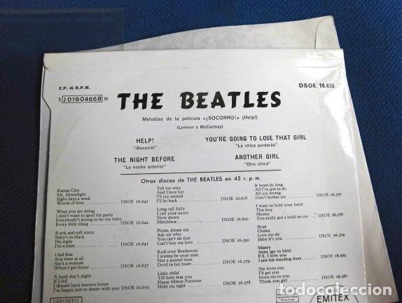Discos de vinilo: BEATLES SINGLE EP AZUL OSCURO LABEL CAMBIO REFERENCIA 1J EMI ODEON ESPAÑA ESTADO MINT - Foto 6 - 257415880