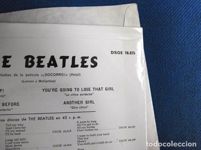 Discos de vinilo: BEATLES SINGLE EP AZUL OSCURO LABEL CAMBIO REFERENCIA 1J EMI ODEON ESPAÑA ESTADO MINT - Foto 9 - 257415880