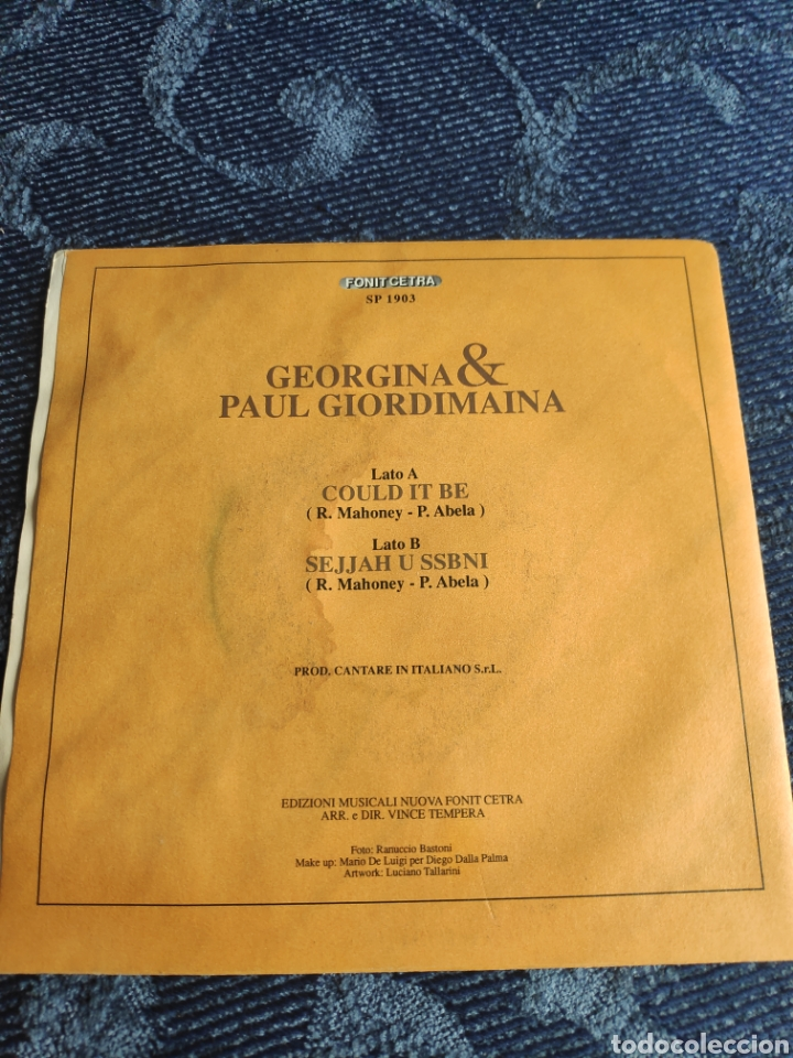 Discos de vinilo: Single vinilo Eurovision 91 Italia - Georgina & Pauil Giordimaina - Could it be - Foto 2 - 257417235