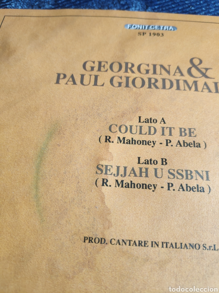 Discos de vinilo: Single vinilo Eurovision 91 Italia - Georgina & Pauil Giordimaina - Could it be - Foto 4 - 257417235