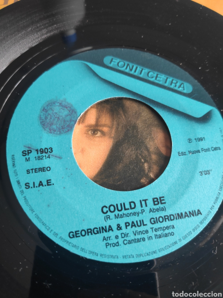 Discos de vinilo: Single vinilo Eurovision 91 Italia - Georgina & Pauil Giordimaina - Could it be - Foto 5 - 257417235