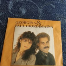 Discos de vinilo: SINGLE VINILO EUROVISION 91 ITALIA - GEORGINA & PAUIL GIORDIMAINA - COULD IT BE. Lote 257417235