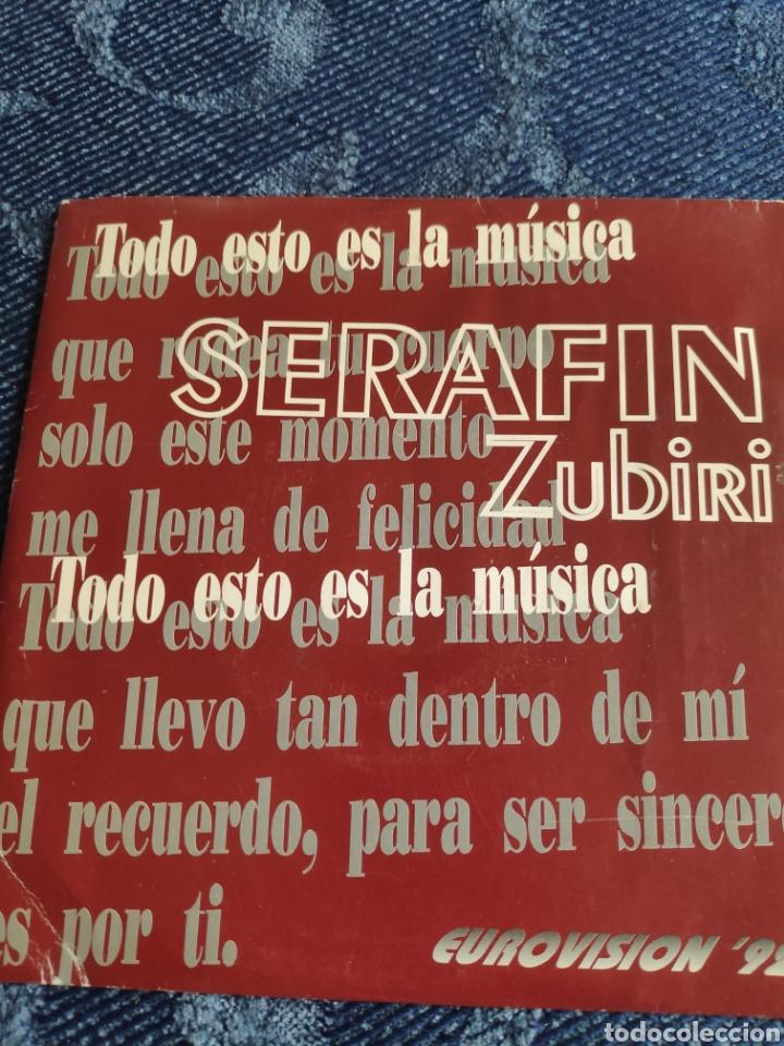 SINGLE VINILO PROMO EUROVISION 92- SERAFIN ZUBIRI - TODO ESTO ES LA MÚSICA - DOBLE CARA A (Música - Discos - Singles Vinilo - Festival de Eurovisión)