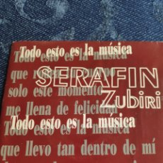 Discos de vinilo: SINGLE VINILO PROMO EUROVISION 92- SERAFIN ZUBIRI - TODO ESTO ES LA MÚSICA - DOBLE CARA A. Lote 257418865