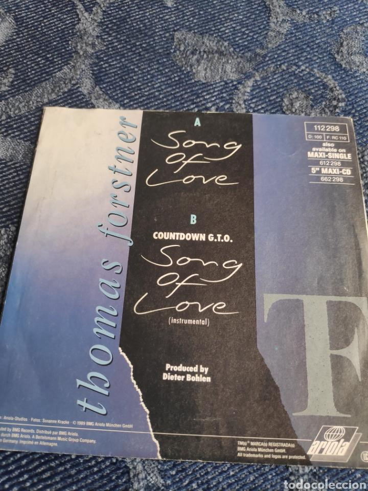 Discos de vinilo: Single vinilo Eurovision 89 - Thomas Forstner - Song of love - Dieter Bohlen - Foto 3 - 257422230