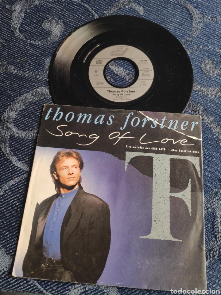 SINGLE VINILO EUROVISION 89 - THOMAS FORSTNER - SONG OF LOVE - DIETER BOHLEN (Música - Discos - Singles Vinilo - Festival de Eurovisión)