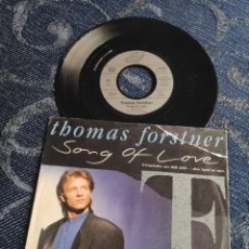 Discos de vinilo: SINGLE VINILO EUROVISION 89 - THOMAS FORSTNER - SONG OF LOVE - DIETER BOHLEN. Lote 257422230