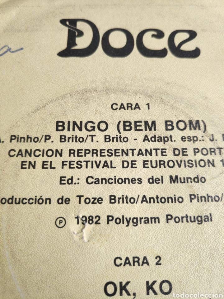 Discos de vinilo: Vinilo single Eurovision 82 España - Doce - Bingo (versión en español de Bem Bom - Foto 2 - 257424175