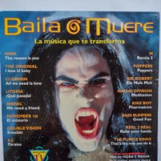 Discos de vinilo: BAILA O MUERE-2LP-1995-DOUBLE VISION-NINA-SPANIC-NACHO DIVISION-M-BASS BUMPERS-UTOPIA-KIKE BOY..... Lote 257425615