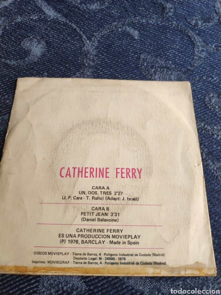 Discos de vinilo: Single vinilo Eurovision 76 España - Catherine Ferry canta en español 1,2,3 y Petit Jean - Foto 3 - 257426190