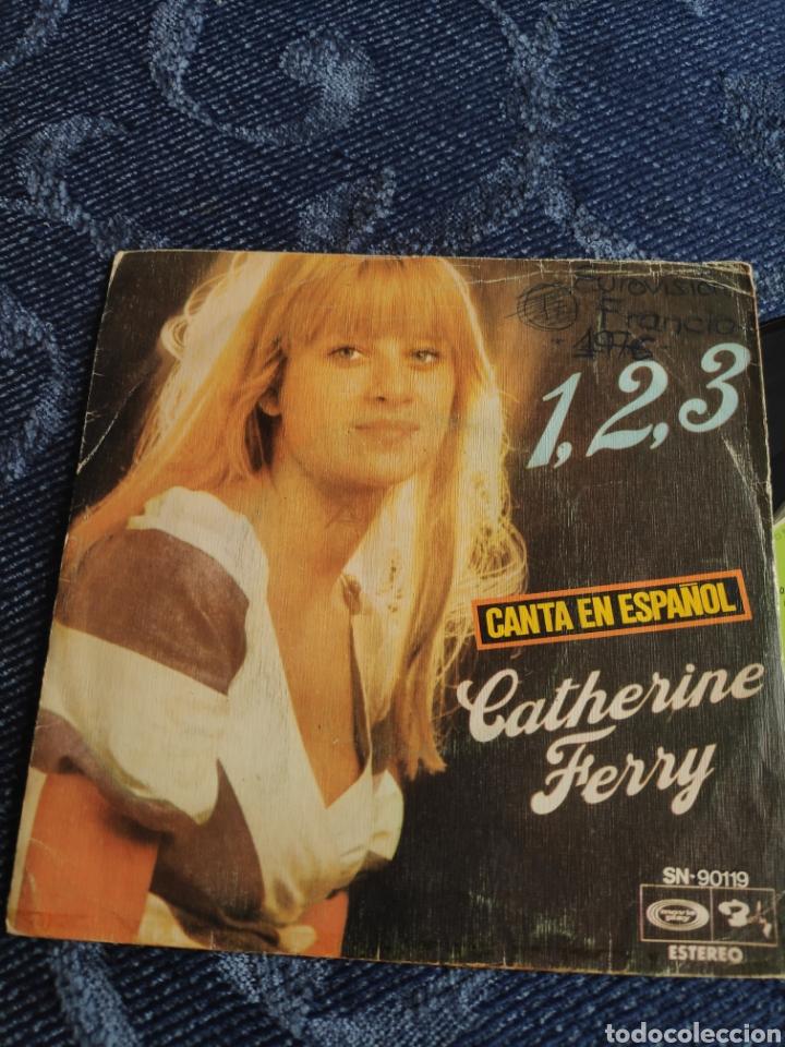 SINGLE VINILO EUROVISION 76 ESPAÑA - CATHERINE FERRY CANTA EN ESPAÑOL 1,2,3 Y PETIT JEAN (Música - Discos - Singles Vinilo - Festival de Eurovisión)
