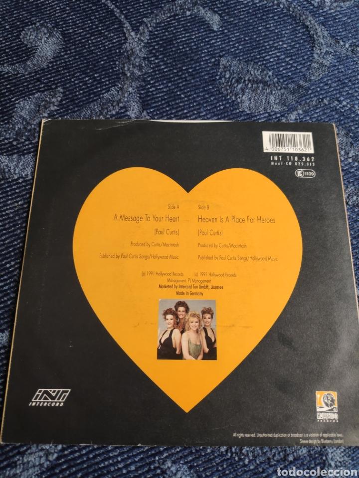Discos de vinilo: Single vinilo Eurovision - Samantha Janus - A message to your heart - Foto 2 - 257428345
