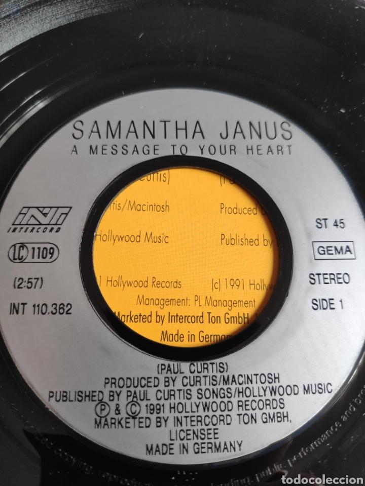 Discos de vinilo: Single vinilo Eurovision - Samantha Janus - A message to your heart - Foto 3 - 257428345