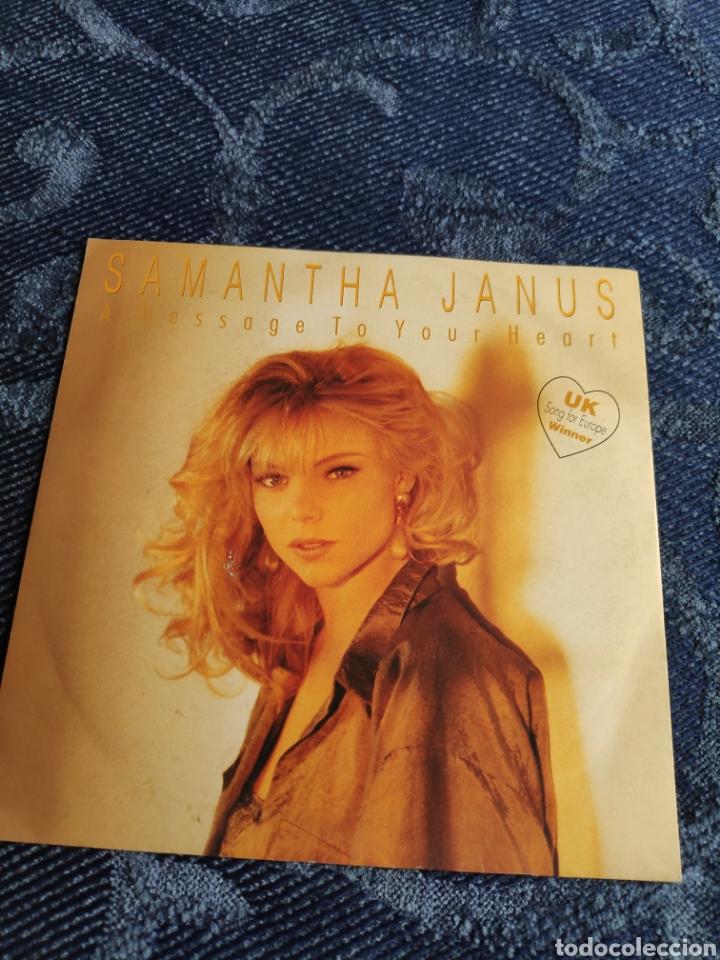 SINGLE VINILO EUROVISION - SAMANTHA JANUS - A MESSAGE TO YOUR HEART (Música - Discos - Singles Vinilo - Festival de Eurovisión)
