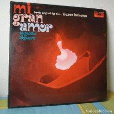 Discos de vinilo: AUGUSTO ALGUERO - MI GRAN AMOR - BANDA SONORA ORIGINAL DEL FILM 100.000 LADRONES - LP POLYDOR 1971. Lote 257429025