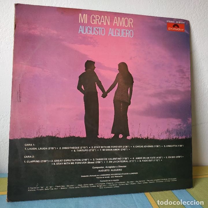 Discos de vinilo: AUGUSTO ALGUERO - MI GRAN AMOR - BANDA SONORA ORIGINAL DEL FILM 100.000 LADRONES - LP POLYDOR 1971 - Foto 2 - 257429025