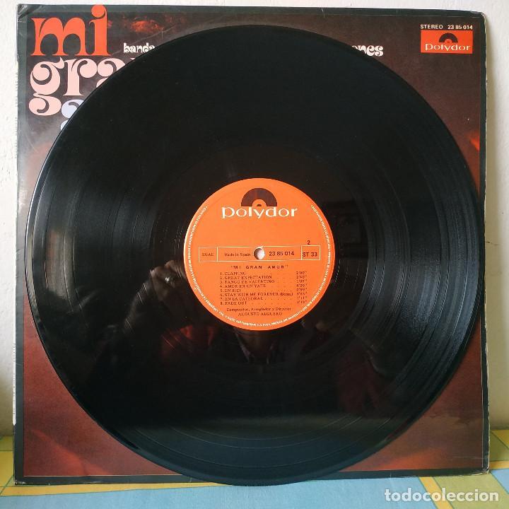 Discos de vinilo: AUGUSTO ALGUERO - MI GRAN AMOR - BANDA SONORA ORIGINAL DEL FILM 100.000 LADRONES - LP POLYDOR 1971 - Foto 4 - 257429025