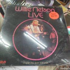 Discos de vinilo: WILLIE NELSON LIVE LP I GOTTA GET DRUNK U.S.A. 1976 PRECINTADO. Lote 257429730