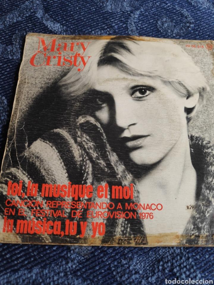 Discos de vinilo: Single vinilo español Eurovision 76 - Mary Cristy - La música tu y yo + Toi, la musique et moi - Foto 5 - 257433980