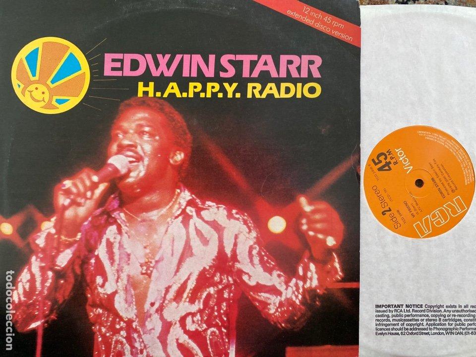 """EDWIN STARR - H.A.P.P.Y. RADIO (EXTENDED DISCO VERSION) (12"""") (VINILO ROJO) (Música - Discos de Vinilo - Maxi Singles - Funk, Soul y Black Music)"""