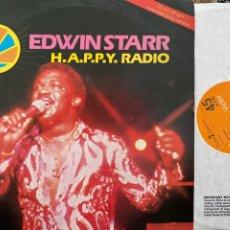 "Discos de vinilo: EDWIN STARR - H.A.P.P.Y. RADIO (EXTENDED DISCO VERSION) (12"") (VINILO ROJO). Lote 257444920"