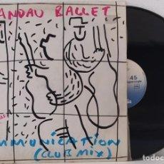 Discos de vinilo: MAXI SINGLE SPANDAU BALLET COMMUNICATION - CHRYSALIS - CHSC-2668 - 12'',45 RPM - SPAIN 1983. Lote 257449380