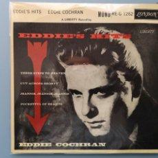 Discos de vinilo: DIFICIL EP EDDIE COCHRAN 1ª EDIC INGLESA 1960 RE-G 1262 GENE VINCENT ELVIS BUDDY HOLLY MUY BUENA CON. Lote 257452030