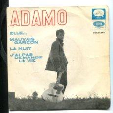 Discos de vinilo: ADAMO. LA NUIT, ELLE, ETC. EP LA VOZ DE SU AMO 1965. Lote 257461520