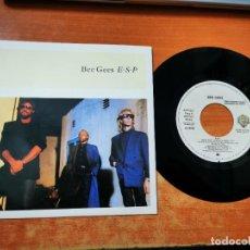 Discos de vinilo: BEE GEES E.S.P. / OVERNIGHT SINGLE VINILO PROMO ESPAÑA DEL AÑO 1987 CONTIENE 2 TEMAS. Lote 257480725