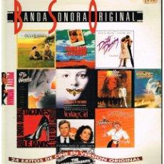 Discos de vinilo: BANDA SONORA ORIGINAL. 24 EXITOS DE CINE EN VERSION ORIGINAL - DOBLE LP 1992 - PORTADA DOBLE. Lote 257481210
