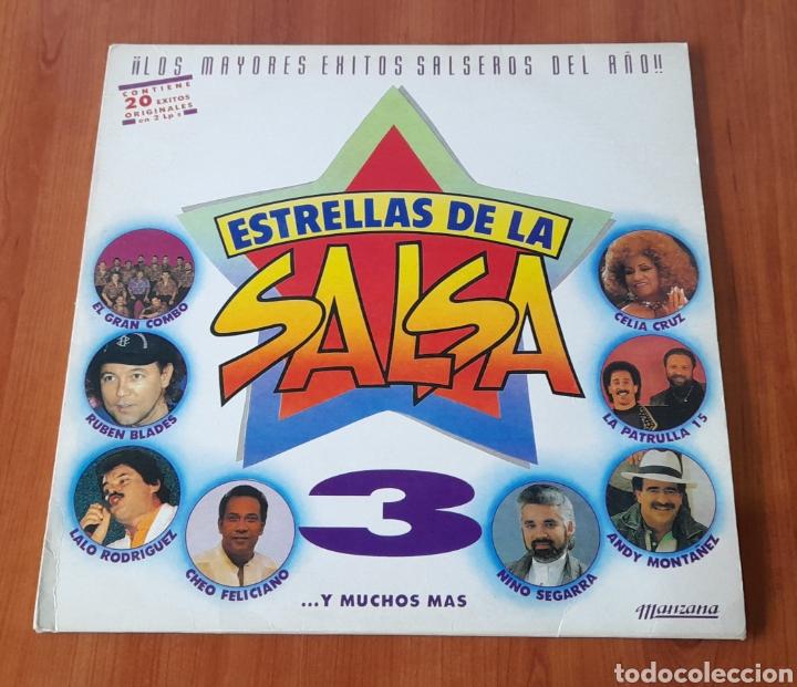 VINILO LP ESTRELLAS DE LA SALSA. VER FOTOS. (Música - Discos - LP Vinilo - Grupos y Solistas de latinoamérica)