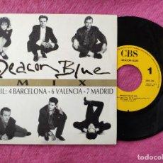 Discos de vinilo: SINGLE DEACON BLUE - MIX - CBS ARIC 2411 - SPAIN PRESS PROMO (NM/NM). Lote 257500720