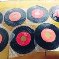 Discos de vinilo: ACROPOL LOTE DE 8 SINGLES SIN PORTADAS-MANOLO PANTOJA MILA ROSA CARMEN MONTENEGRO ETC. Lote 257515265