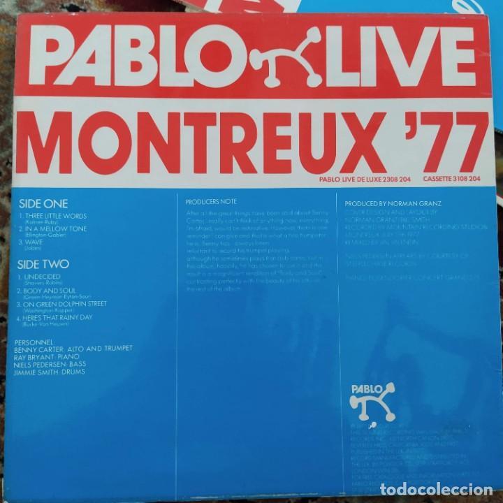 Discos de vinilo: Benny Carter 4 - Montreux 77 (LP, Album) (1977/UK) - Foto 2 - 257516680