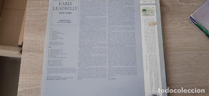 Discos de vinilo: LEADBELLY Early leadbelly 1935 1940 - Foto 3 - 257517930
