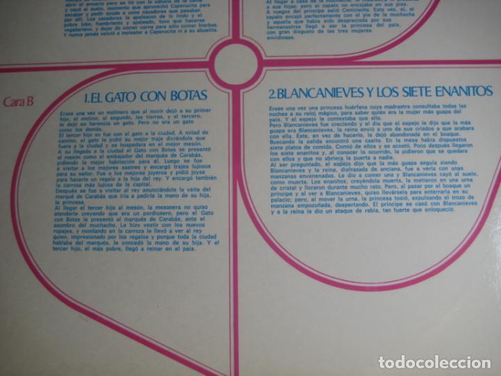 Discos de vinilo: CUENTOS DE NIÑOS CONTADOS POR NIÑOS - LP DISCOLIBRO 1973 - ILUSTRACION JORDI OLIVE MILA - Foto 4 - 257528655