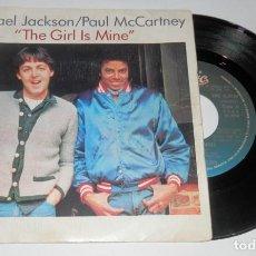 Discos de vinilo: DISCO SINGLE VINILLO MICHAEL JACKSON / PAUL MCCARTNEY. Lote 257535865