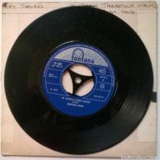 Discos de vinilo: MANFRED MANN. MIGHTY QUINN/ BY REQUEST-EDWIN GARVEY. FONTANA, UK 1968 SINGLE. Lote 257550190