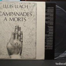Discos de vinilo: LLUIS LLACH. CAMPANDES A MORTS. MOVIEPLAY 1977. LP CON ENCARTE PEPETO. Lote 257556815